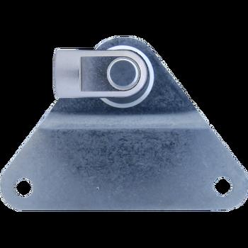 M8 Occhio (19mm) Inox 304 V2A snodato con piastrina di fissaggio
